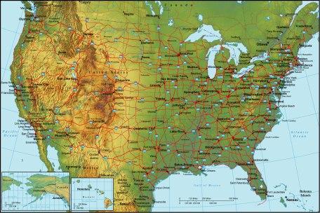 map United States roads