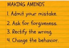 How to Make Amends