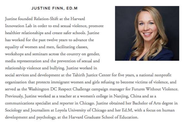 Justine Finn, Advisor to Amends Project