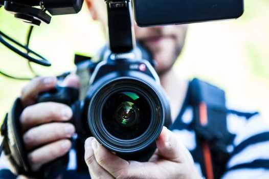 holding film camera