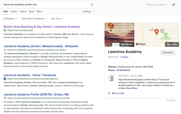 Lawrence Academy search image