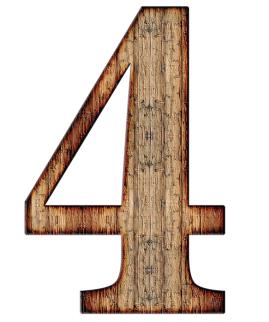number 4 wooden