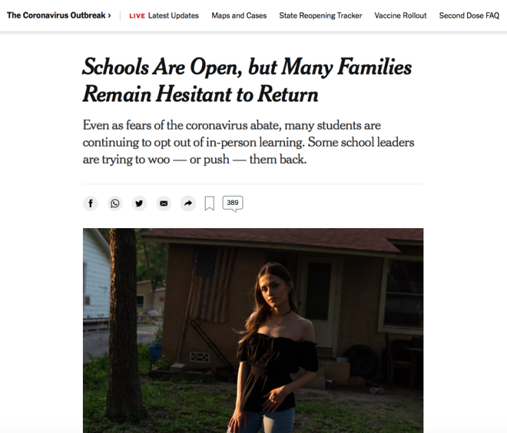 NY Times - Schools are Open