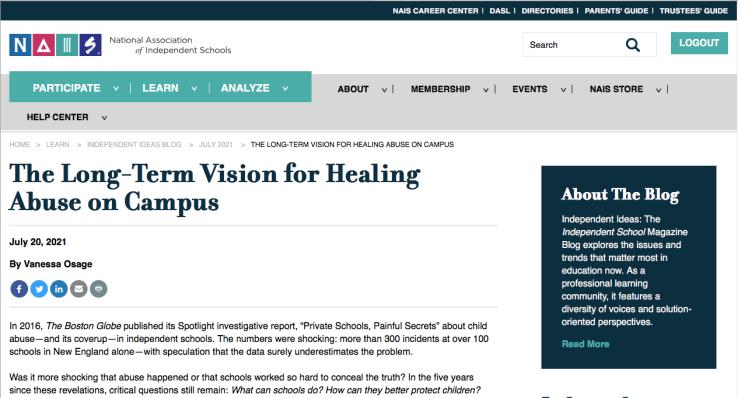 Long Term Vision piece